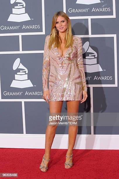 Tv Personality Heidi Klum arrives at the 52nd Annual GRAMMY Awards held at Staples Center on January 31 2010 in Los Angeles California