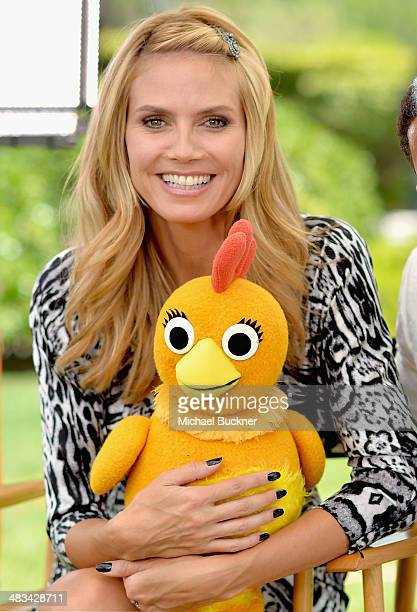 Tv personality Heidi Klum attends NBCUniversal's Summer Press Day at Langham Hotel on April 8 2014 in Pasadena California