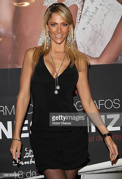 Tv personality Ines Sainz attends a signing of the Gente Magazine's February 2010 Issue with Ines Sainz cover at Samborns Plaza Loreto on February 18...
