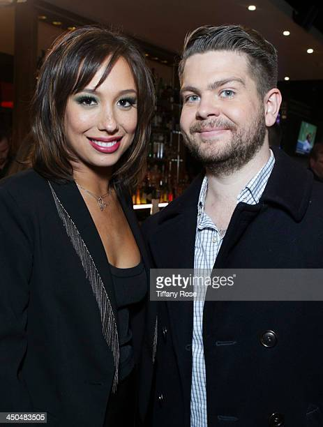 Tv personality Jack Osbourne and dancer Cheryl Burke attend Dancing With The Stars Celebrates The Semifinals With A Party At Mixology101 LA at...