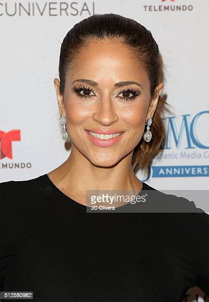 Tv personality Jackie Guerrido attends the 19th Annual National Hispanic Media Coalition Impact Awards Gala at Regent Beverly Wilshire Hotel on...