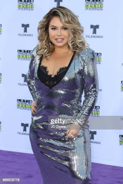 Tv personality Janney Marin AKA 'Chiquis Rivera' attends The 2017 Latin American Music Awards at Dolby Theatre on October 26 2017 in Hollywood...