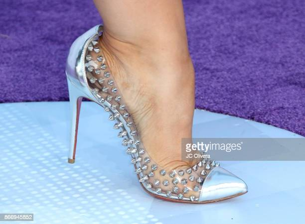 Tv personality Janney Marin AKA Chiquis Rivera shoes detail attends The 2017 Latin American Music Awards at Dolby Theatre on October 26 2017 in...