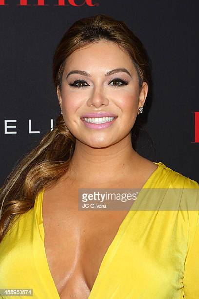 Tv personality Janney Rivera AKA 'Chiquis' attends LATINA Magazine's 30 Under 30 Celebration at SkyBar at the Mondrian Los Angeles on November 13...