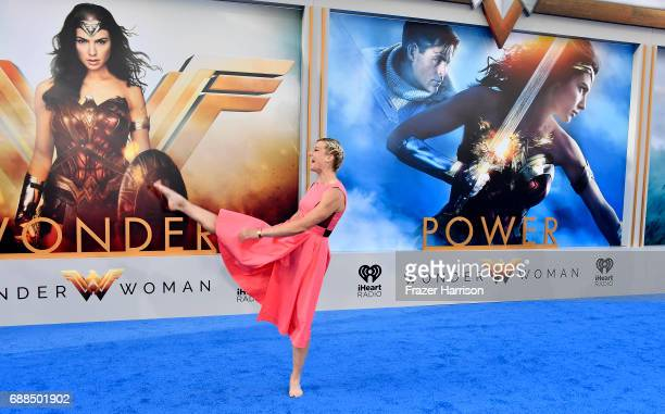 Tv Personality Jessie Graff arrives at the Premiere of Warner Bros Pictures' Wonder Woman at the Pantages Theatre on May 25 2017 in Hollywood...