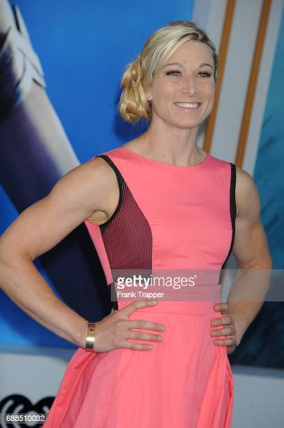 Tv personality Jessie Graff attends the premiere of Warner Bros Pictures ''Wonder Woman' at the Pantages Theatre on May 25 2017 in Hollywood...