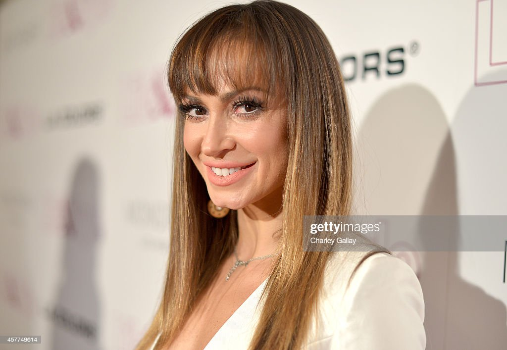 Tv personality Karina Smirnoff attends Life & Style Weekly's 10 Year Anniversary party at SkyBar at the Mondrian Los Angeles on October 23, 2014 in West Hollywood, California.