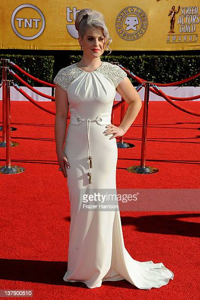 Tv personality Kelly Osbourne arrives at the 18th Annual Screen Actors Guild Awards at The Shrine Auditorium on January 29 2012 in Los Angeles...