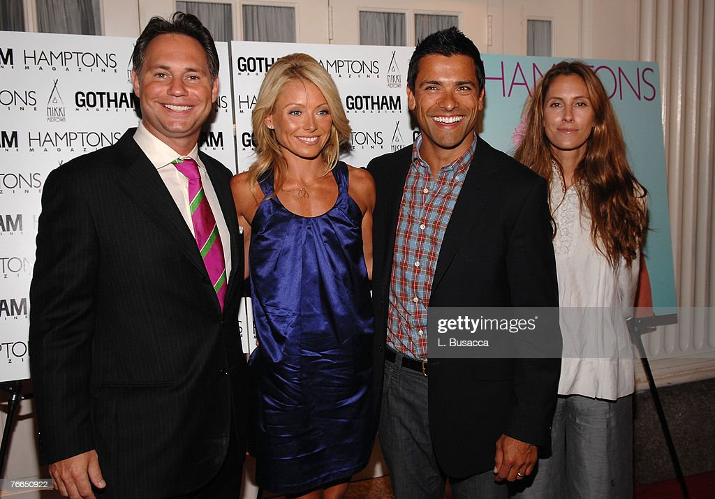 Tv personality Kelly Ripa and actor Mark Consuelos at the