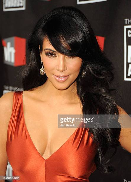 Tv personality Kim Kardashian arrives at the 16th Annual Critics' Choice Movie Awards at the Hollywood Palladium on January 14, 2011 in Los Angeles,...