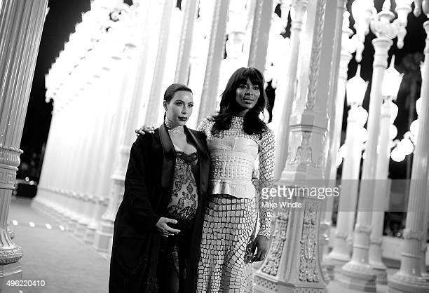 Tv personality Kim Kardashian West and model Naomi Campbell attend LACMA 2015 Art+Film Gala Honoring James Turrell and Alejandro G Inarritu,...