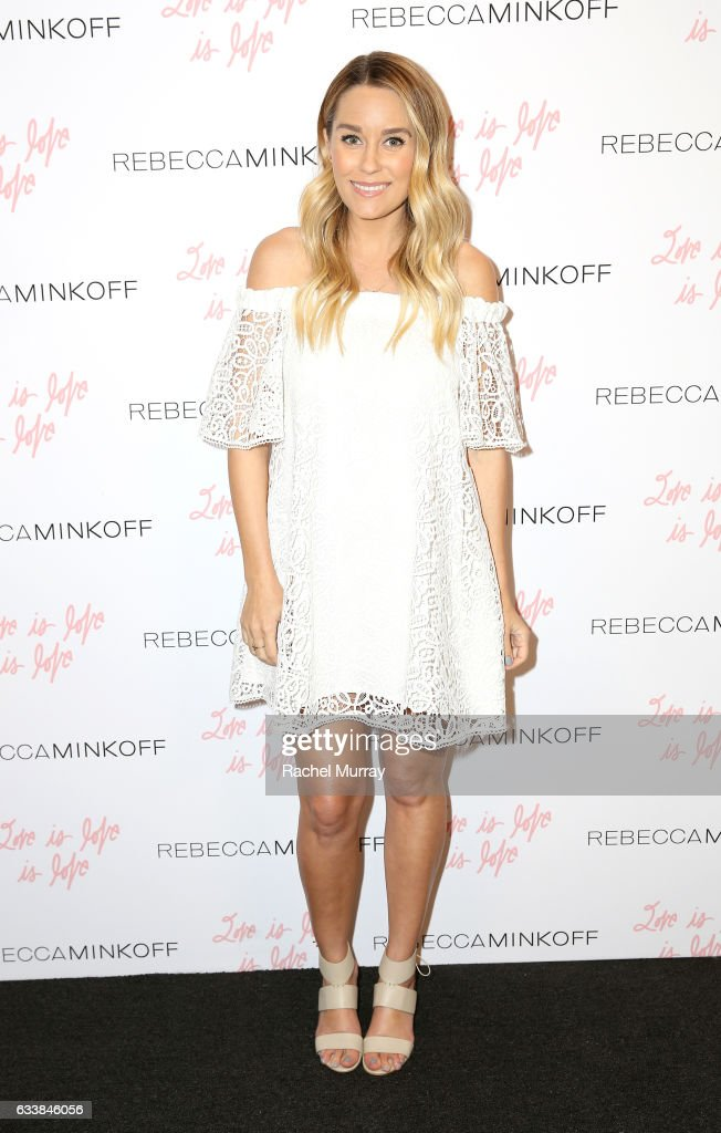 "Tv personality Lauren Conrad attended designer Rebecca Minkoff's Spring 2017 ""See Now, Buy Now"" Fashion Show at The Grove on February 4, 2017 in Los Angeles, California."