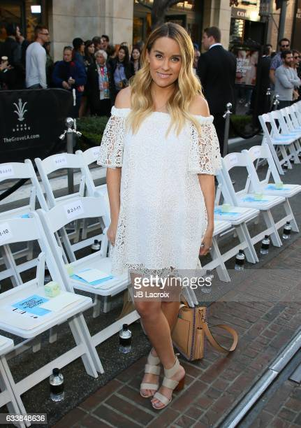 Tv personality Lauren Conrad attended designer Rebecca Minkoff's Spring 2017 See Now Buy Now Fashion Show at The Grove on February 4 2017 in Los...