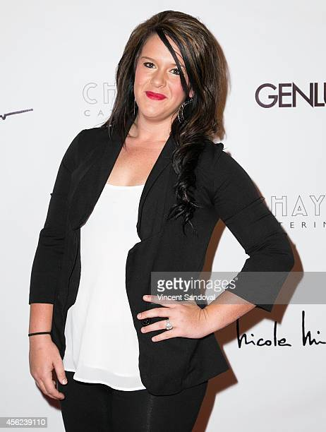 Tv personality Lauren White attends the Genlux Magazine issue release party with cover girl Taryn Manning at Bootsy Bellows on September 27 2014 in...
