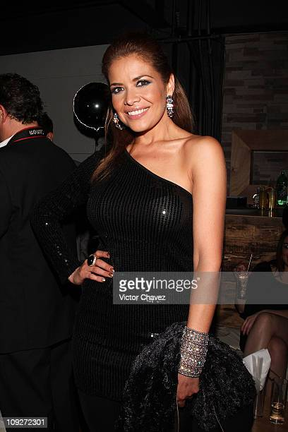 Tv personality Lili Brillanti attends the Playboy Mexico 100th Anniversary Issue party at Level B on February 17 2011 in Mexico City Mexico