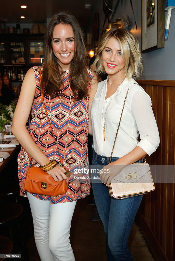 Tv Personality Louise Roe (L) and actress Julianne Hough, wearing Paper Denim & Cloth attend the Paper Denim & Cloth and Baby2Baby Luncheon at Son Of A Gun on June 11, 2013 in Los Angeles, California.