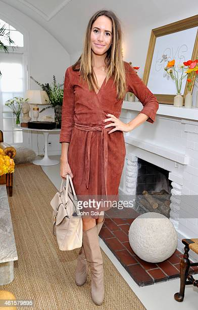 Tv personality Louise Roe attends LOVEGOLD Luncheon celebrating Michelle Dockery at Chateau Marmont on January 9 2014 in Los Angeles California