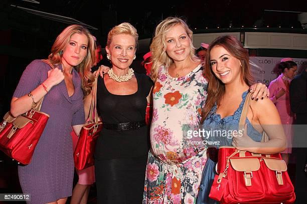 Tv personality Maria Ines Socialite Raquel BessudoAlejandra de Cima and Tv personality Claudia Lizaldi attends the CLOE launch of travel set Cim*ab...