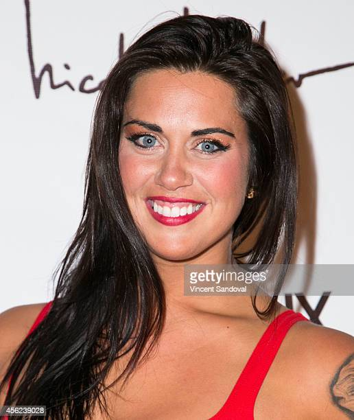 Tv personality Mattie Breaux attends the Genlux Magazine issue release party with cover girl Taryn Manning at Bootsy Bellows on September 27 2014 in...