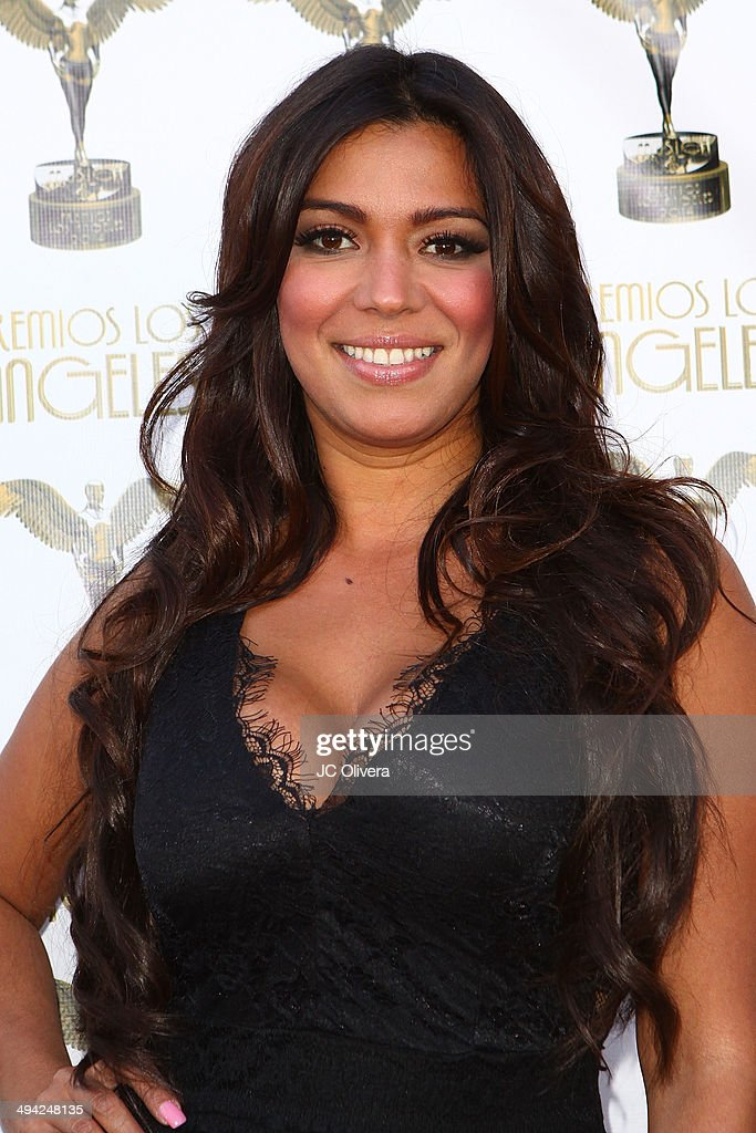 Tv personality Melissa Martinez arrives at Premios Los Angeles 2014 at The Theatre at Ace Hotel Downtown LA on May 28, 2014 in Los Angeles, California.
