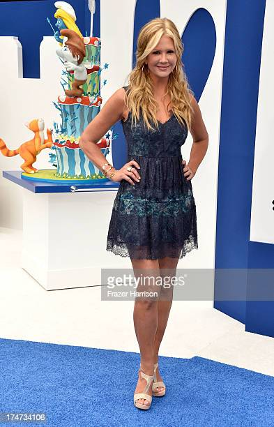 Tv Personality Nancy O'Dell attends the premiere of Columbia Pictures' 'Smurfs 2' at Regency Village Theatre on July 28 2013 in Westwood California
