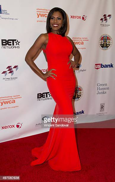 Tv personality Omarosa ManigaultStallworth attends the 13th Annual Rhapsody Gala hosted by YWCA at the Beverly Wilshire Four Seasons Hotel on...