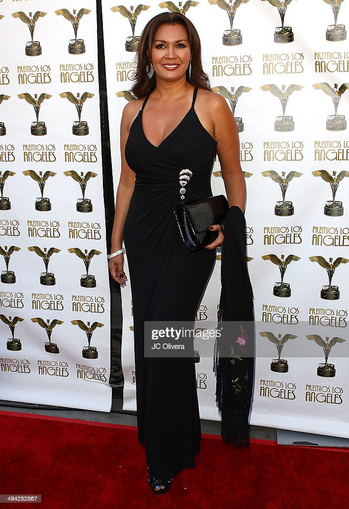 Tv personality Palmira Perez arrives at Premios Los Angeles 2014 at The Theatre at Ace Hotel Downtown LA on May 28, 2014 in Los Angeles, California.