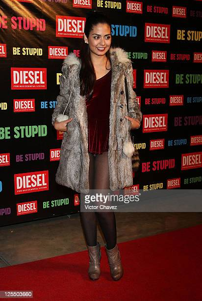 Tv personality Romina Aranzola attends the Diesel Be Stupid Party at General Prim on December 2 2010 in Mexico City Mexico