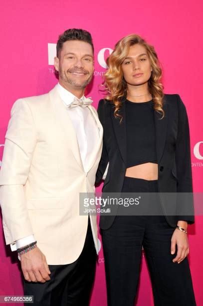 Tv personality Ryan Seacrest and Shayna Taylor at the MOCA Gala 2017 honoring Jeff Koons at The Geffen Contemporary at MOCA on April 29 2017 in Los...