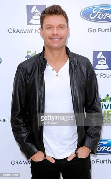 Tv personality Ryan Seacrest at the Ford Drive 4UR School Event with Ryan Seacrest The Recording Academy and GRAMMY Foundation at Diamond Bar High...
