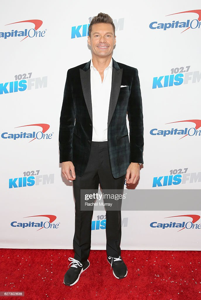 Tv personality Ryan Seacrest attends 102.7 KIIS FM's Jingle Ball 2016 presented by Capital One at Staples Center on December 2, 2016 in Los Angeles, California.