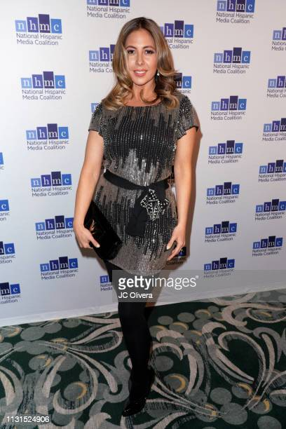Tv personality Stephanie Himonidis attends the 22nd Annual National Hispanic Media Coalition Impact Awards Gala at Regent Beverly Wilshire Hotel on...