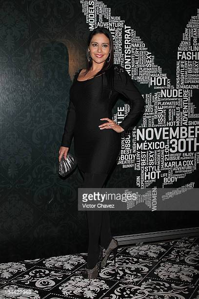 Tv personality Sugey Abrego attends the Christmas Playboy Mexico magazine party at the Ragga Antara Polanco on November 30 2011 in Mexico City Mexico