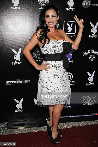 Tv personality Sugey Abrego attends the Playboy Mexico magazine party at Lomas de Chapultepec on August 27 2011 in Mexico City Mexico