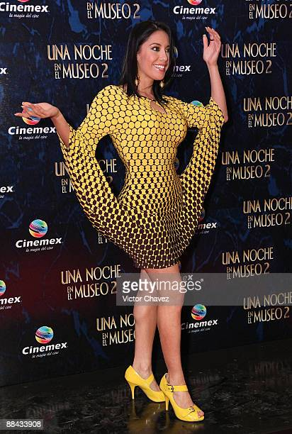 Tv personality Sugey Abrego attends the premiere of Night At The Museum Battle Of The Smithsonian at Cinemex Antara Polanco on June 9 2009 in Mexico...