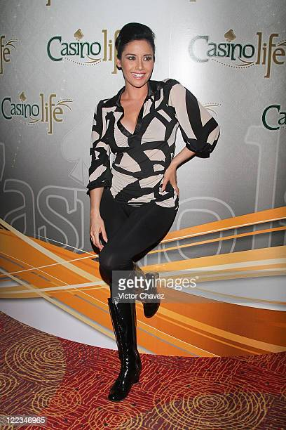 Tv personality Sugey Abrego attends the Stivens Palacios Beautiful Glass 2010 collection at Casino Life on June 23 2010 in Mexico City Mexico