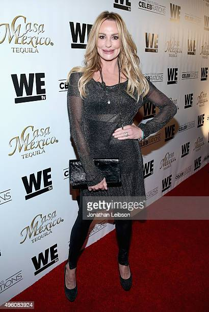 Tv personality Taylor Armstrong attends the launch of WE tv's David Tutera CELEBrations and Casa Mexico Tequila on November 6 2015 in Hollywood...