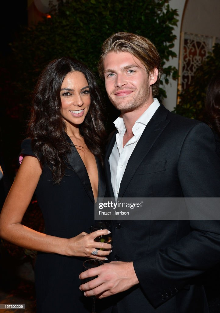 Tv personality Terri Seymour (L) and Clark Mallon attend the launch of the Seventh Annual BritWeek Festival 'A Salute To Old Hollywood' on April 23, 2013 in Los Angeles, California.