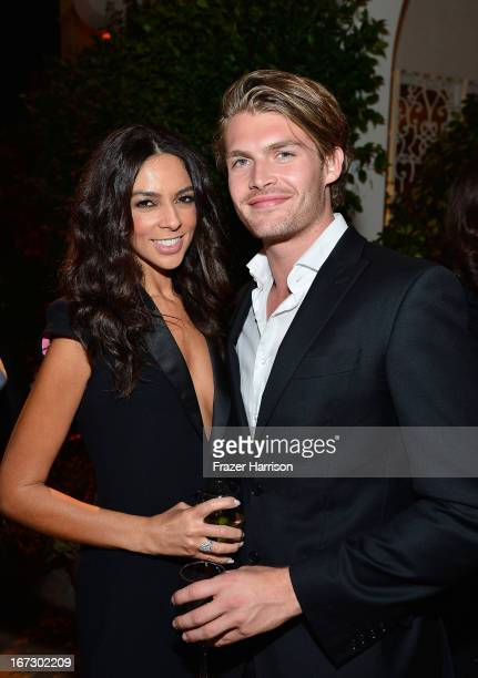 Tv personality Terri Seymour and Clark Mallon attend the launch of the Seventh Annual BritWeek Festival 'A Salute To Old Hollywood' on April 23 2013...