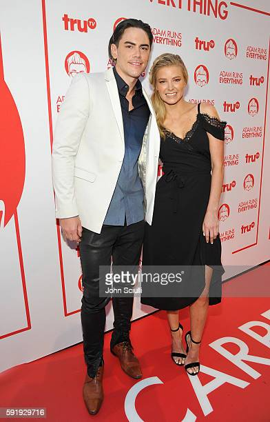 "Tv personality Tom Sandoval and actress Ariana Madix attend truTV's ""Adam Ruins Everything"" Premiere Screening Event on August 18 at The Redbury..."