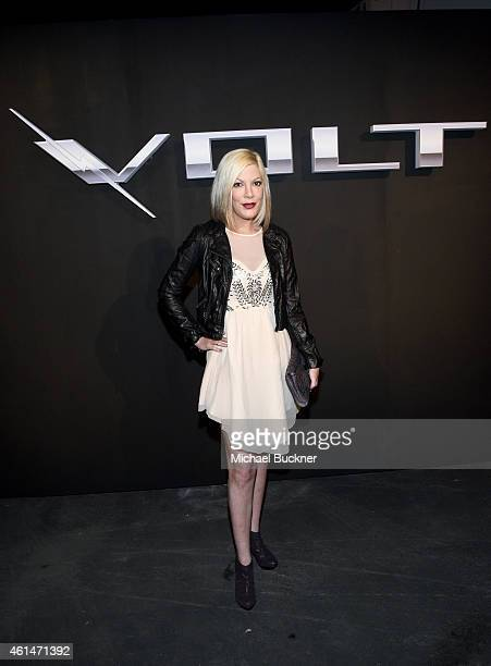 Tv personality Tori Spelling attends West Coast Reveal Of The New 2016 Next Generation Chevrolet Volt at Quixote Studios on January 12 2015 in Los...