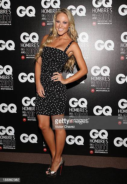 Tv personality Vanessa Huppenkothen attends the 2011 GQ Mexico Men of the Year at the Salon Arcos Bosques on November 17 2011 in Mexico City Mexico