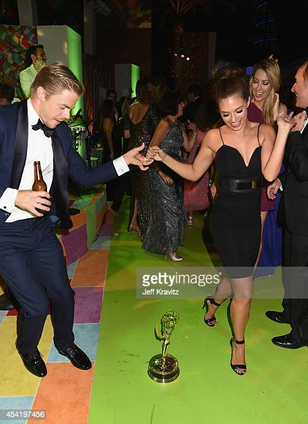Tv personality/dancer Derek Hough attends HBO's Official 2014 Emmy After Party at The Plaza at the Pacific Design Center on August 25 2014 in Los...