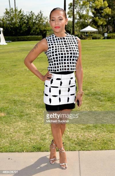 Tv personalityrecording artist Mel B attends NBCUniversal's Summer Press Day at Langham Hotel on April 8 2014 in Pasadena California