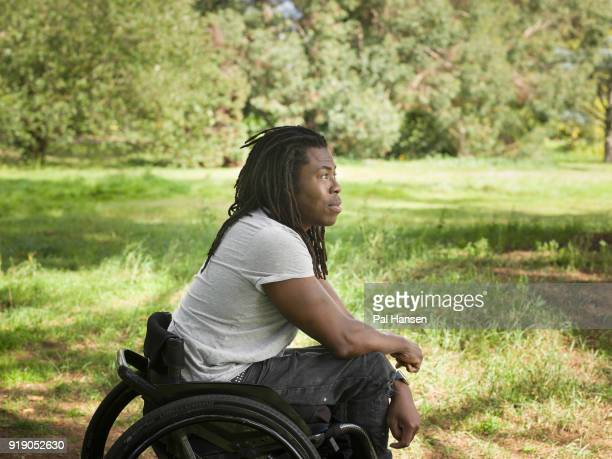 Tv presenter Ade Adepitan is photographed for the Observer on September 18 2017 in London England