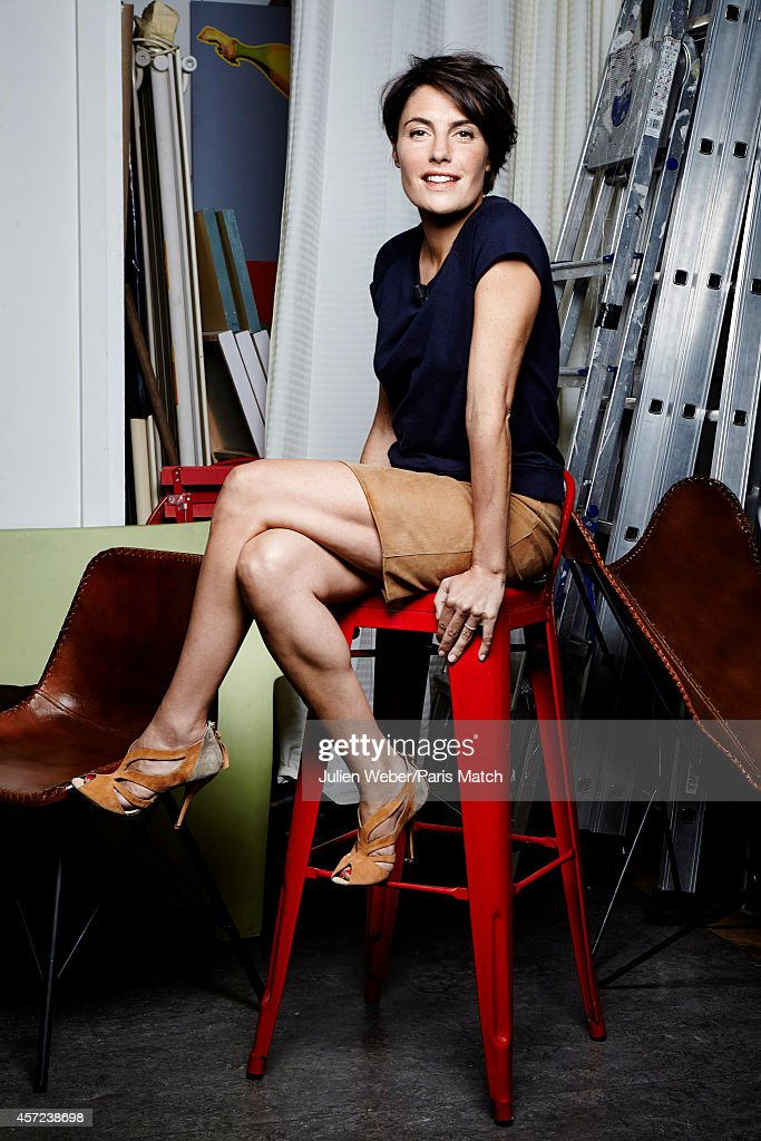 Beautiful Tv Presenter Alessandra Sublet Is Photographed For Paris Match On September  1 2014 In Paris France. U0027