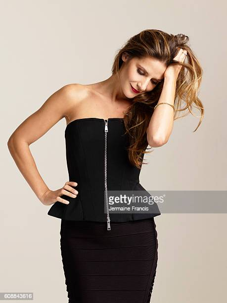 Tv presenter Amanda Byram is photographed for the Sunday Times on November 21 2011 in London England