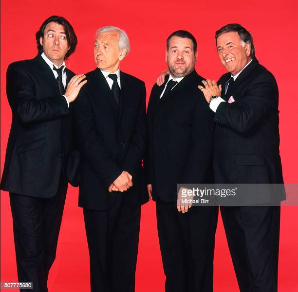 Tv presenter and broadcaster Terry Wogan is photographed with Jonathan Ross John Humphrys and Chris Moyles on May 19 2008 in London England