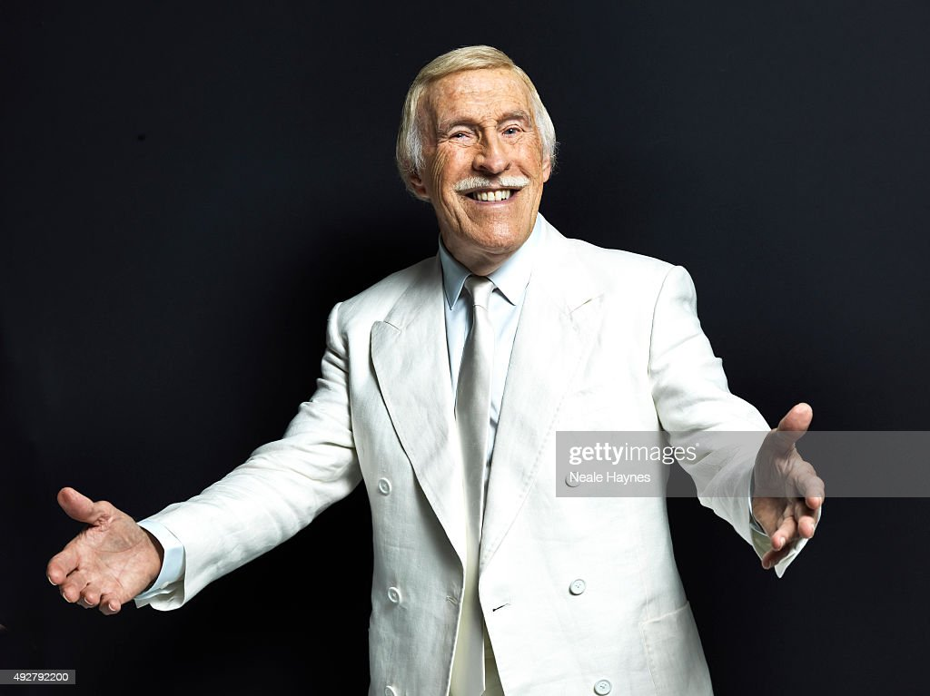 Tv presenter and comedian Bruce Forsyth is photographed for the Daily Mail on August 24, 2015 in Wentworth, England.