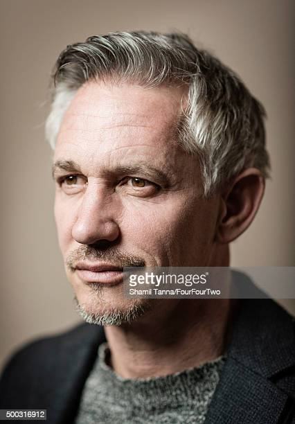 Tv presenter and former footballing legend Gary Lineker is photographed for FourFourTwo magazine on March 10 2015 in London England